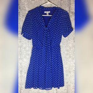 Forever 21 Blue Polk a Dot Dress